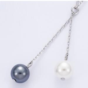 Collier Argent double perle