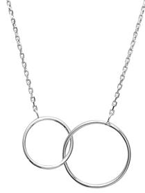 Collier Argent Double Ronds
