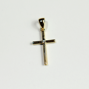 Pendentif Plaqué-Or Croix Zircon