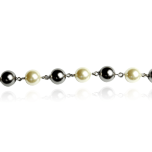 Bracelet Perles Grises et Blanches