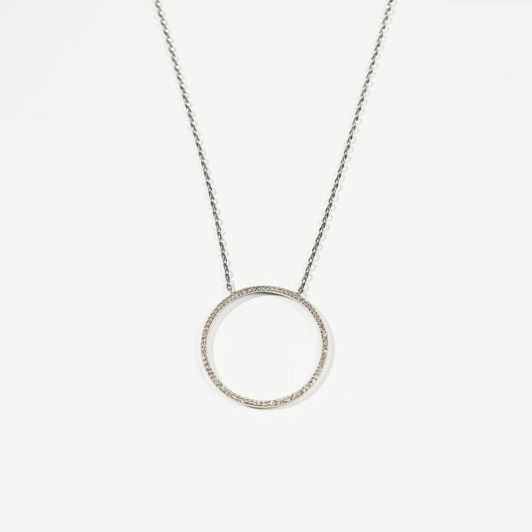 collier anneau oxydes de zirconium