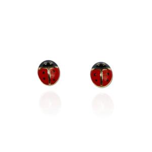 Boucles d'oreilles Plaqué-Or Coccinelles