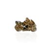 pendentif plaqué or moto