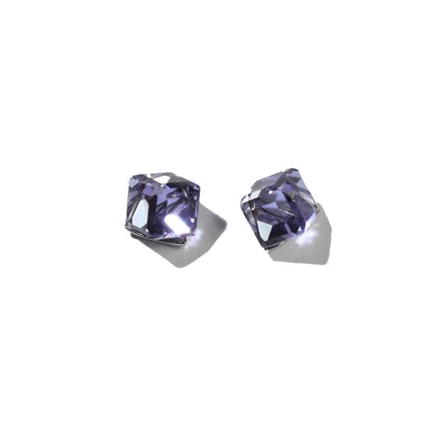 boucles cubes violet