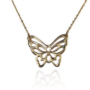 Collier Plaqué Or Papillon