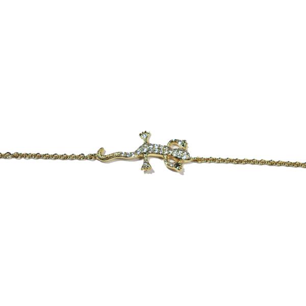 bracelet plaqué or salamandre