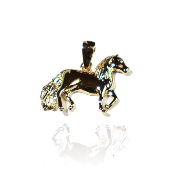 Pendentif cheval au pas