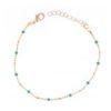 bracelet en plaqué or perles turquoises