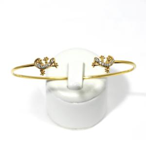 Bracelet Jonc Plaqué Or Salamandre