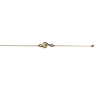 Bracelet Plaqué Or Clef de Sol