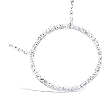 collier en argent anneau