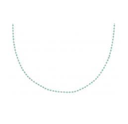 Collier Plaqué Or Multi Perles Turquoises