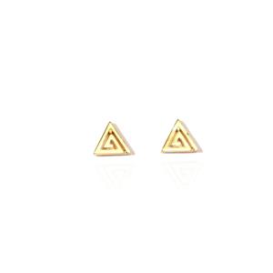 Boucles d'Oreilles Plaqué-Or Triangle