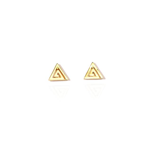 boucles d'oreilles plaqué or triangle