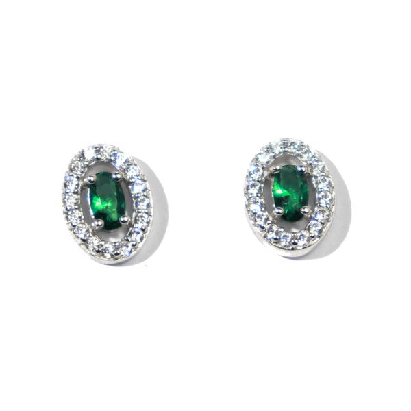 boucles d'oreilles argent juliette vert