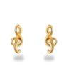 boucles d'oreilles en plaqué or clef de sol petite