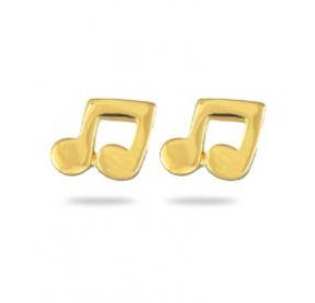 Boucles d'oreilles Plaqué-Or Notes