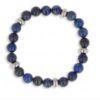 bracelet en pierres lapis lazuli acier