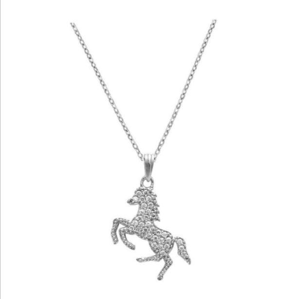 collier en argent cheval cabré